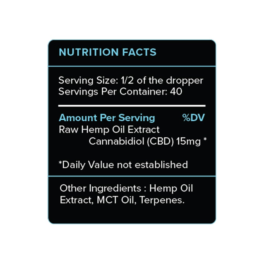 Natural CBD Oil 600mg